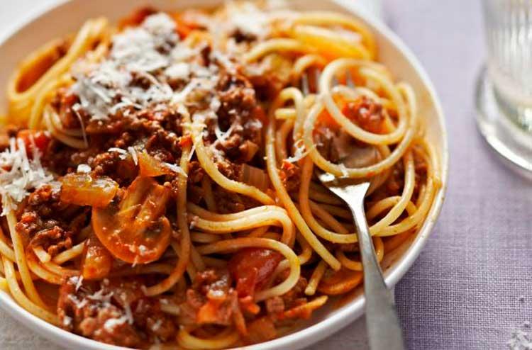 Receta espaguetis con boloñesa