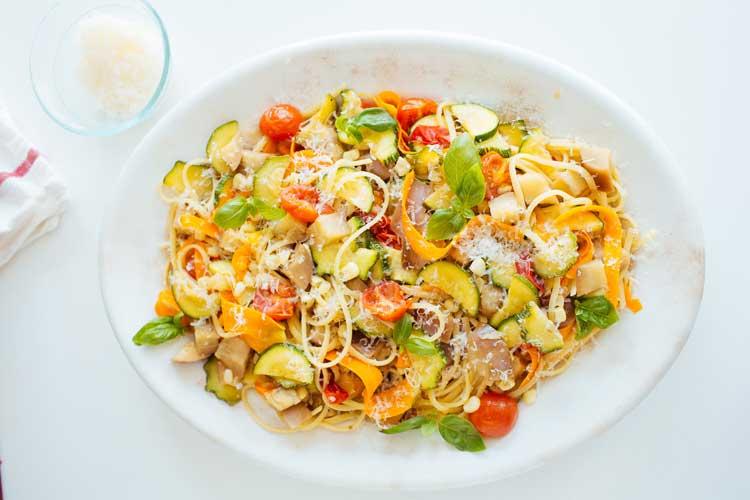 Receta de espaguetis con verduras