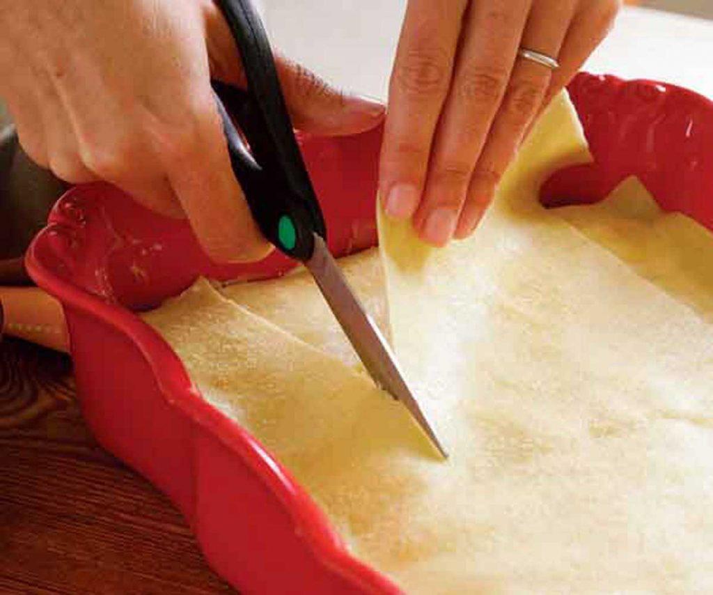 cortar los fideos